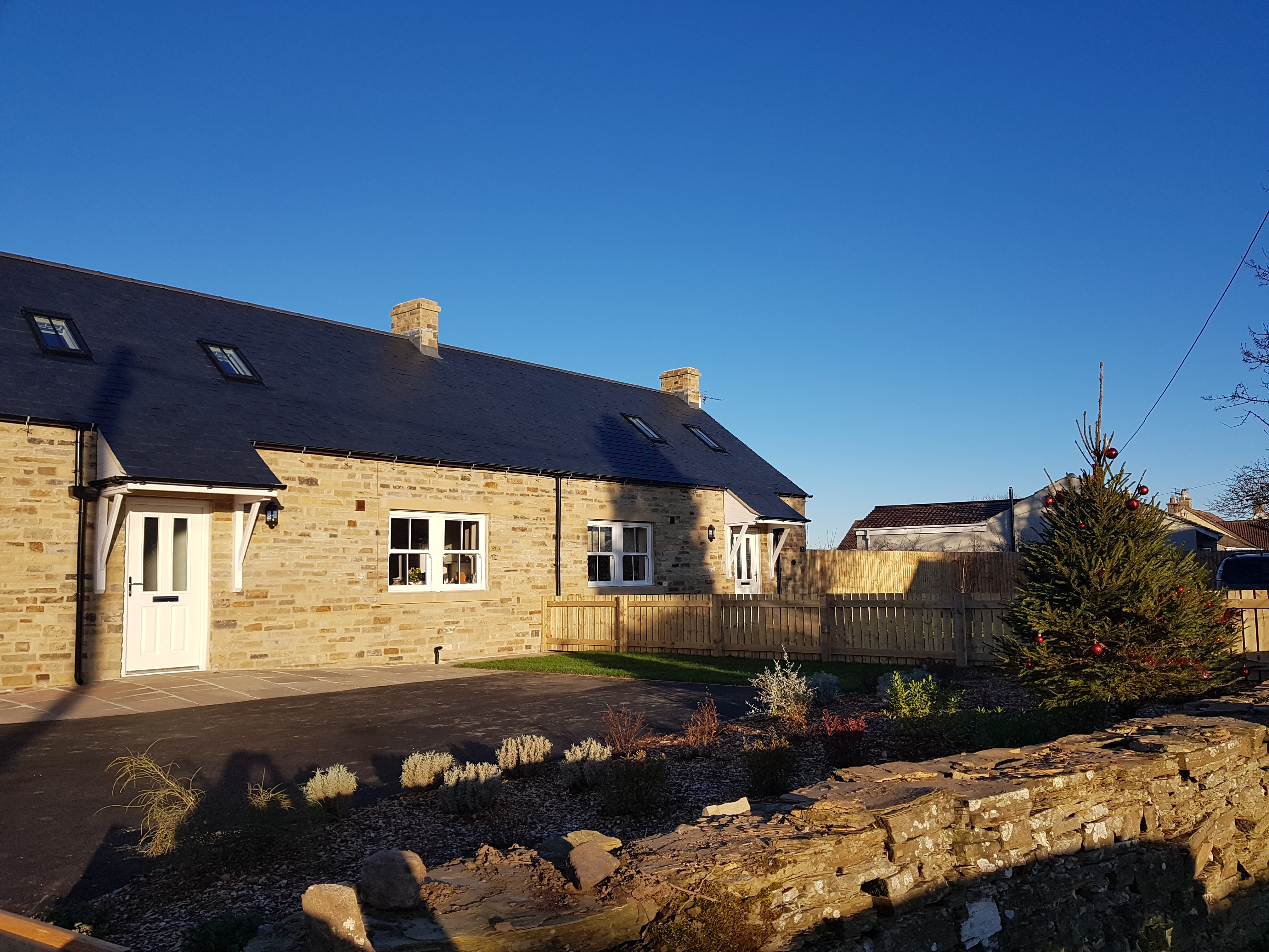 Completed community led housing at Hudswell
