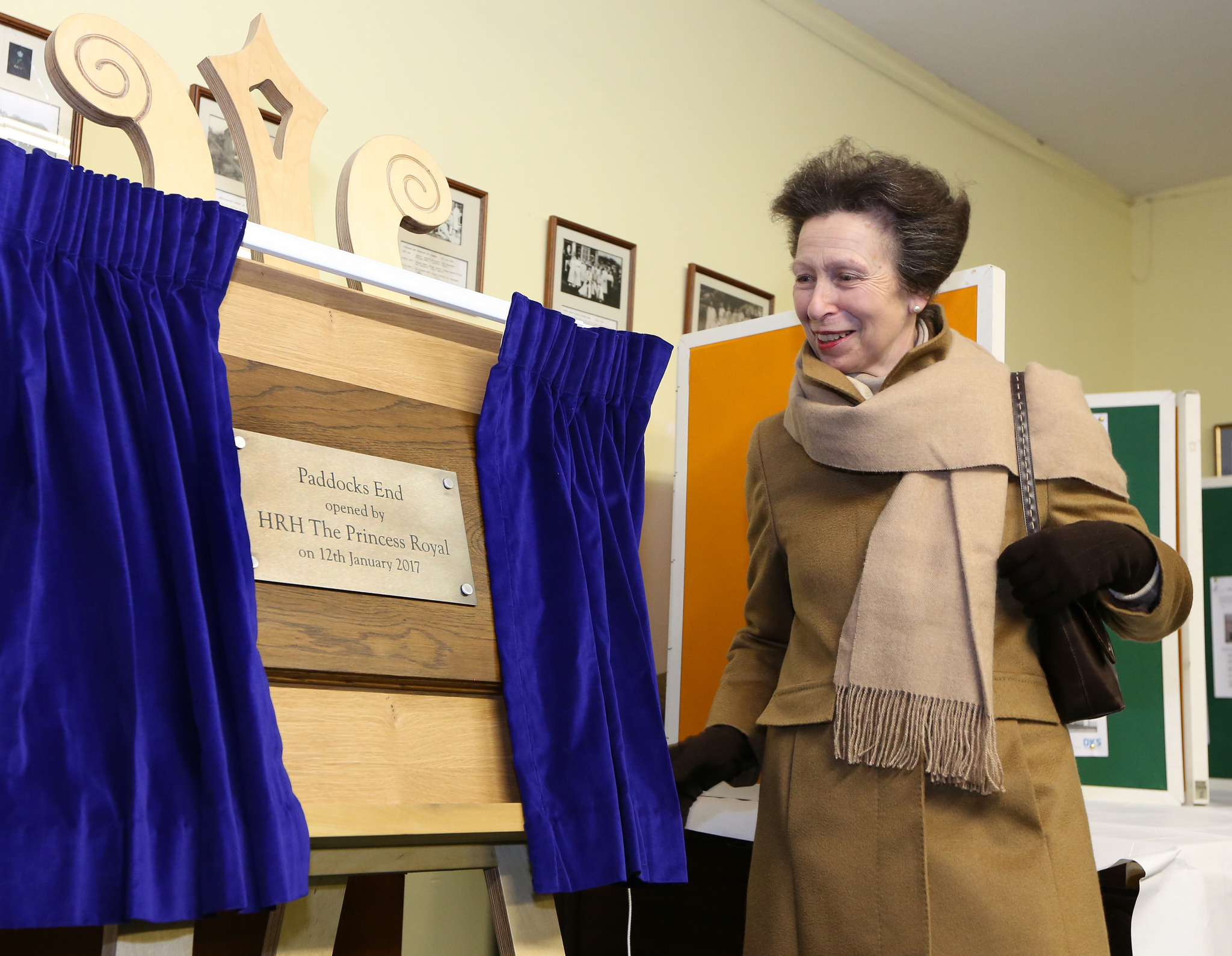 HRH The Princess Royal opening Paddocks End in Hutton Rudby