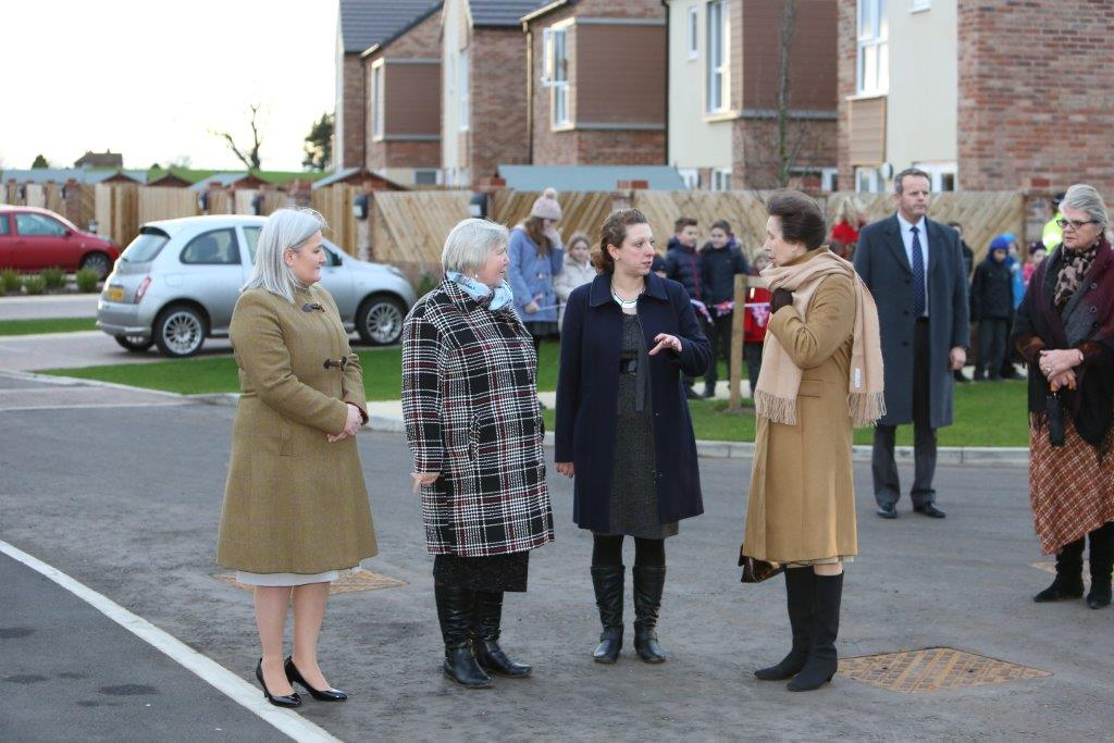 HRH The Princess Royal visiting Paddocks End